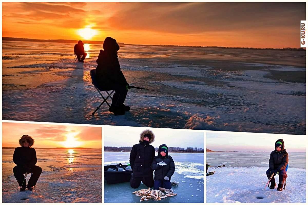 Сезон зимней рыбалки открыт. Илья и Иван — мужики на озере