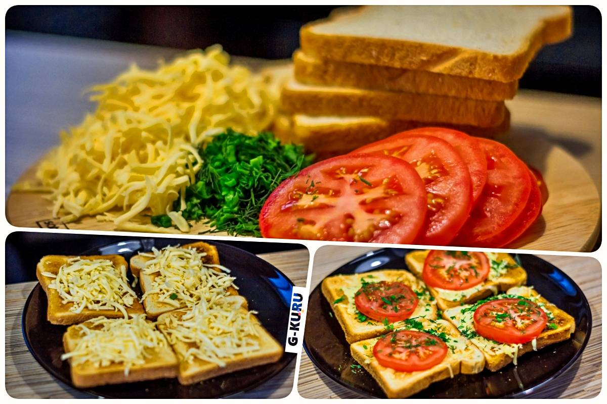 Быстрые бутерброды. Рецепт вкусного перекуса