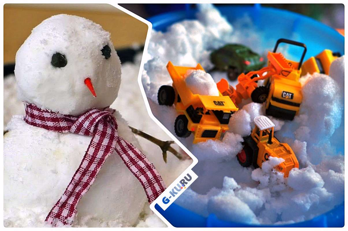 Игры со снегом дома.