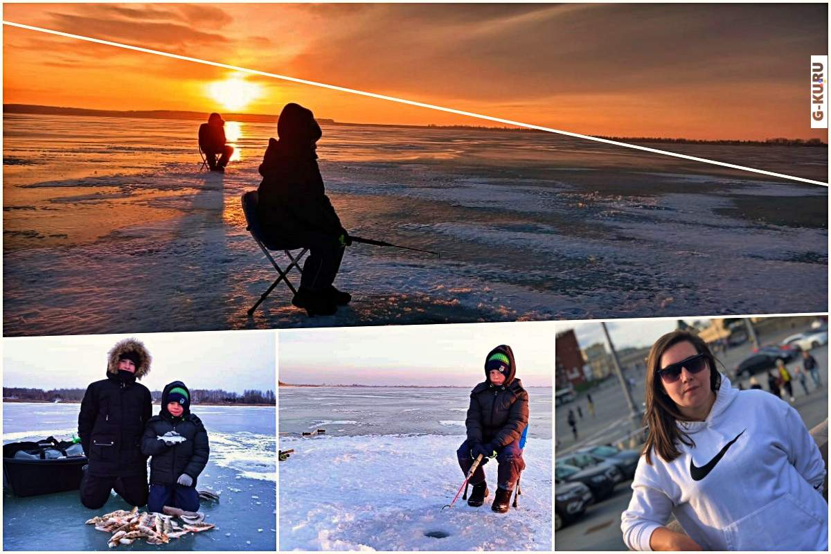 Сезон зимней рыбалки открыт. Илья и Иван - мужики на озере